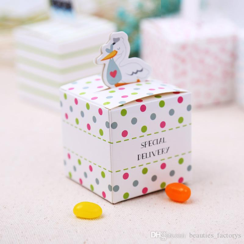 Cute Special Delivery Baby Shower Candy Box Boy Girl Gift Boxes