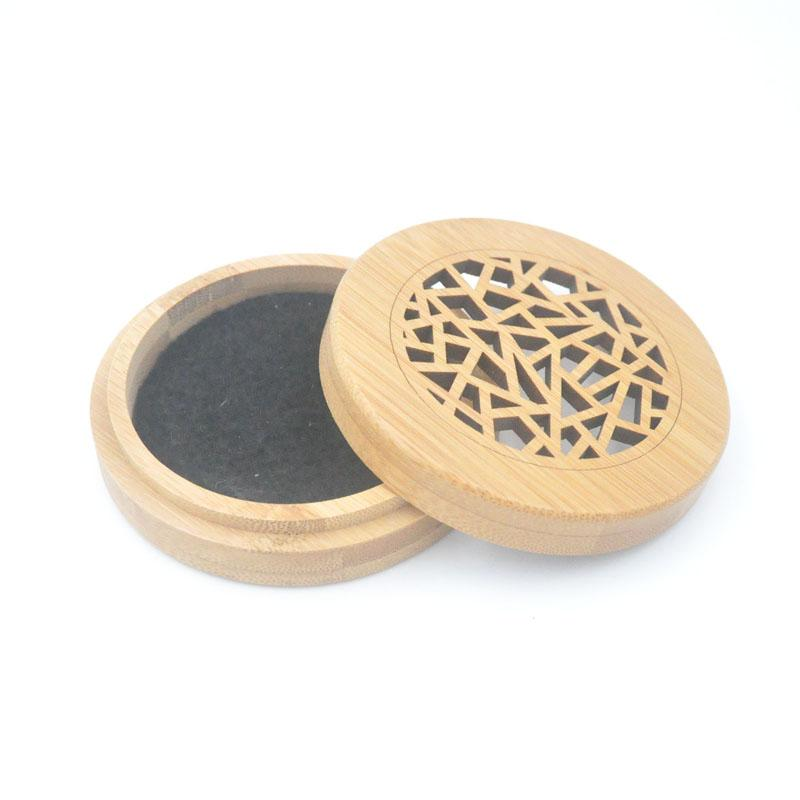 Natural Bamboo Incense Holder Chinese Pattern Circular Base For Burning  Aromatherapy Plate or Incense Coil, Incense Cones