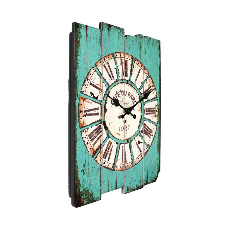 Wholesale- Diameter 29cm Vintage Rustic Wooden Office Kitchen Home  Coffeeshop Bar Large Wall Clock Decor 41x35x45cm