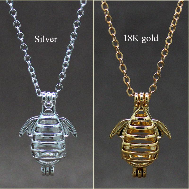 retro silver hollow can open cage creative bee design alloy beads cage fragrance essential oil diffuser fashion pearl pendant box orna
