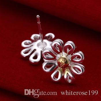 도매 - 최저 가격 크리스마스 선물 925 스털링 실버 패션 귀걸이 E014