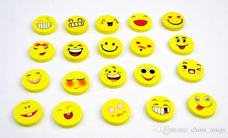 Borrachas bonito Dos Desenhos Animados Emoji Apagador Emoção Kawaii Eraser Novidade Papelaria Escolar Suprimentos Atacado Borracha Borrachos Dos Desenhos Animados