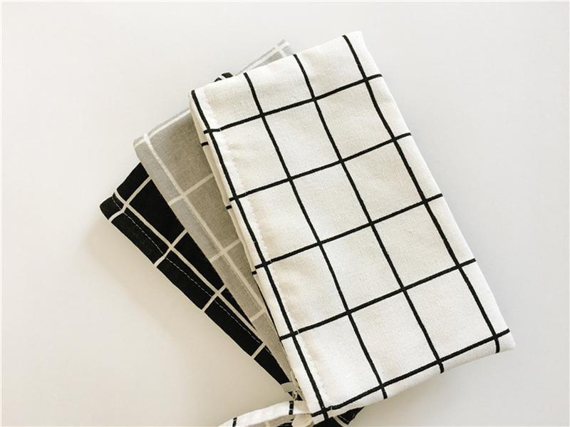 20 Teile / los 11 * 20 cm Streifen raster baumwolle leinwand kosmetiktaschen DIY frauen blank plain reißverschluss make-up tasche telefon clutch bag keychain tasche