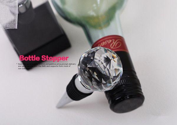 Bouchons de Vin en Cristal Faveurs de Mariage Cadeau Bouchon de Bouteille de Vin /économiseur de Vin Avec Bo/îte-cadeau