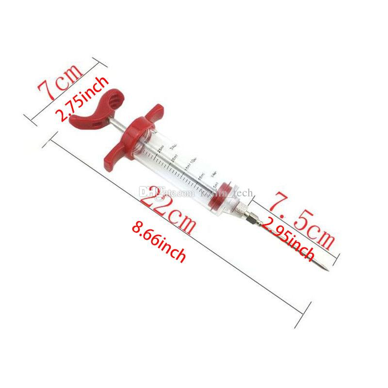Turkey sauce injectors tool food grade PP 30ml barbecue sauce injectors