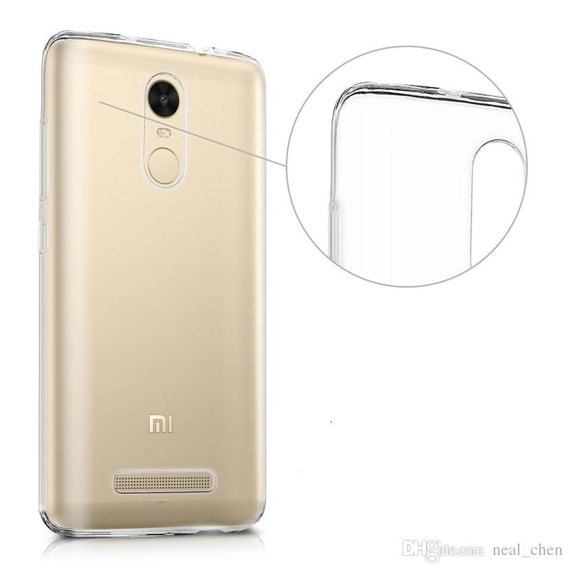 Flexible 0.33mm Slim Shock Absorption Crystal Clear Soft Durable Rubber TPU Cover for Redmi 2 3X 3s 4A NOTE note2 note3 note4 PRO