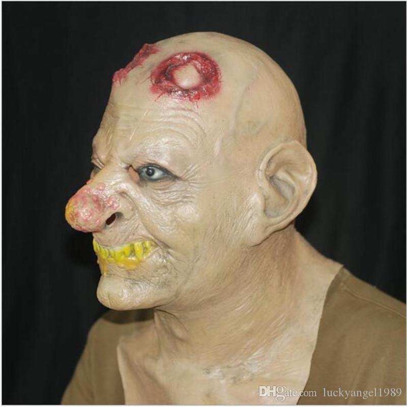 2017 Halloween Adult horror Mask Zombie Mask Latex Bloody Scary Extremely Disgusting Full Face Mask Costume Party Cosplay Prop