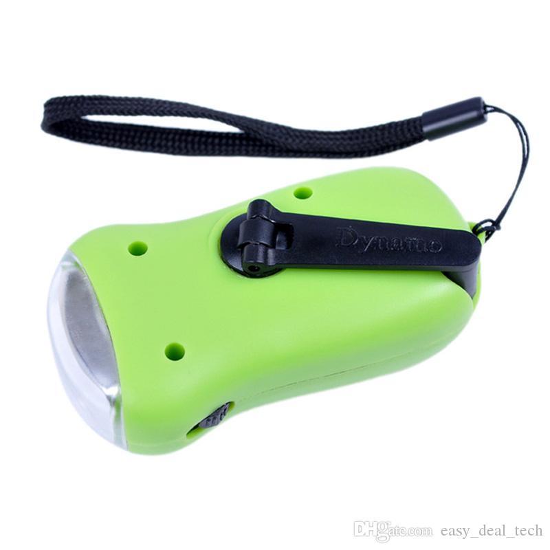 Mini Emergency Solar Flashlight 3LED Hand Crank Dynamo charge Portable Outdoor Camping Emergency Lighting Lamps Sent at random ZJ0474