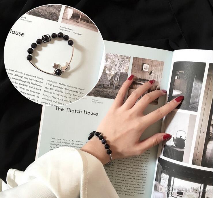 2017 Blue sandstone Bracelet de perles de transport la lune et les étoiles couples bracelets écolière Aide à l'école de commerce 73
