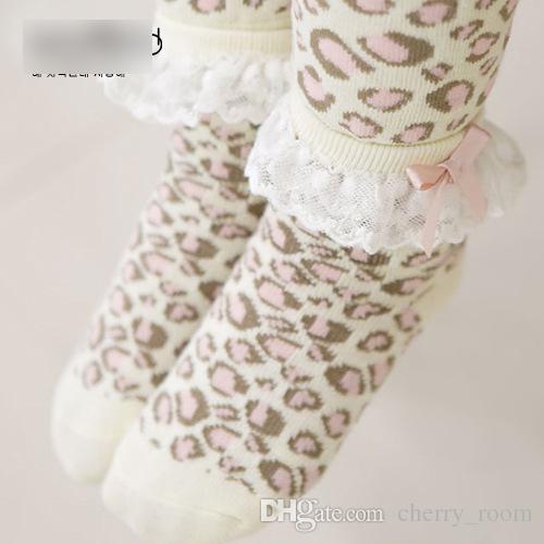 Bebê Meninas Meia-calça Calças Justas calças Leggings Com Laço arco Meias Conjuntos de Leopardo Criança PP Calças Apertadas Novo Infantil Leggings Meias ternos A6495