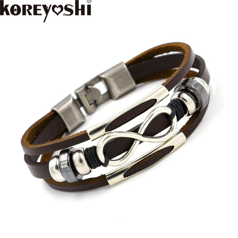 unique design fashionable leather aeravida gold amazing bridal centerpieces bracelets silver super infinity sterling ideas product meaning astonishing symbol bracelet