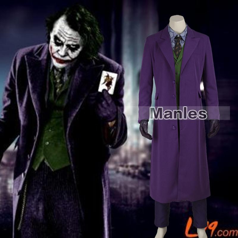 Batman The Dark Knight Joker Costume Batman Joker Suit Outfits ...