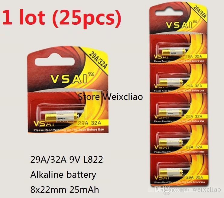 25 قطع 1 وحدة 32a 29a 9 فولت 32A9V 9V32A 29A9V 9V29A L822 بطارية قلوية جافة 9 فولت بطاريات بطاق ...