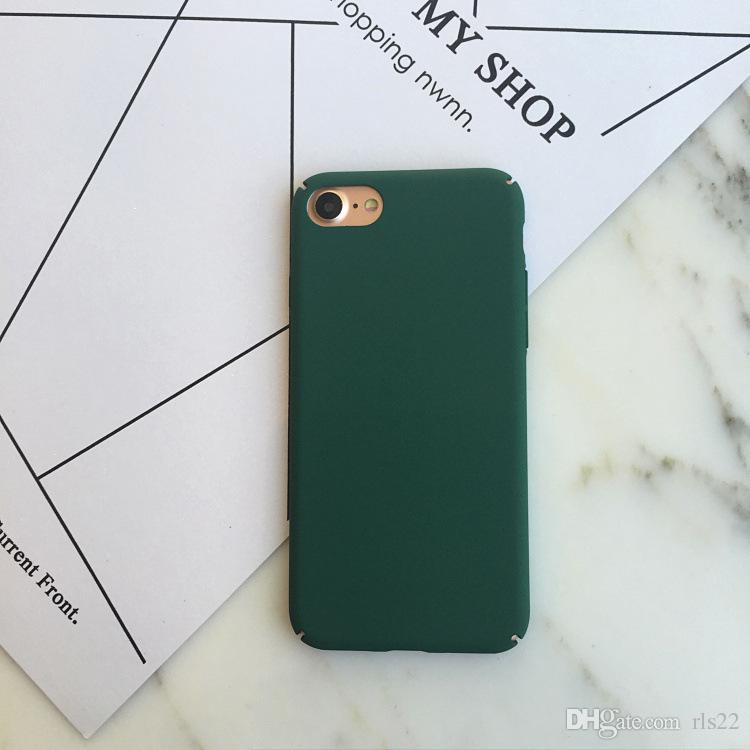 Simple Plain frosted matte hard PC phone case for Iphone X 8 7 plus 6 6s