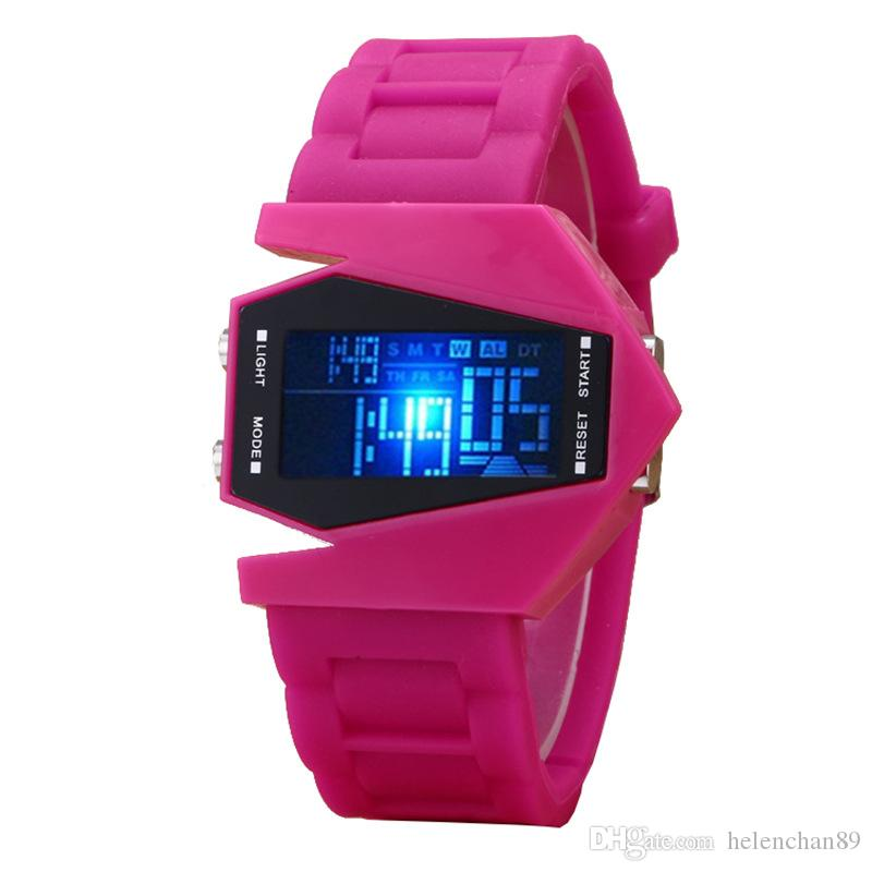Fashion Multi Function LED Light Student Digital Watches Woman Man Sport Silicon Wristwatches with Date Clock Functions
