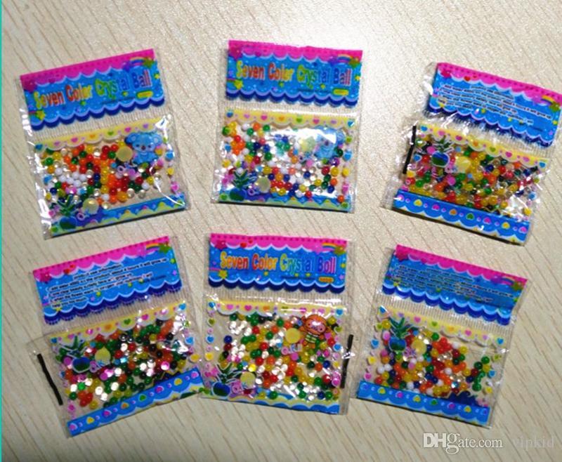 2017 nuovo acqua perle puzzle oceano bambino giocattoli gonfiabili fiore manufatti acqua perline 50 pz / lotto spedizione gratuita
