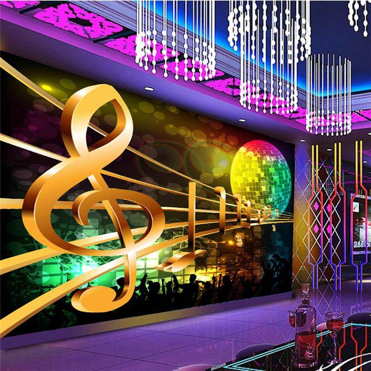 Large Abstract Rock'n Roll Music KTV 3D Room Wallpaper Landscape Photo Wallpaper for Wall 3 d Livingroom Mural Rolls Decor Decal