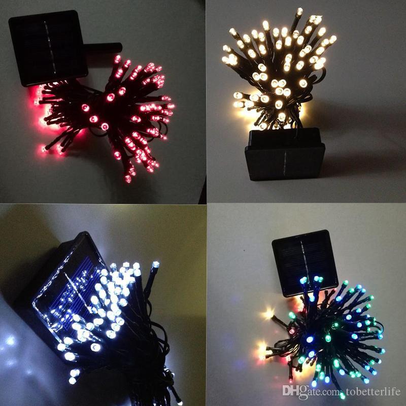 الطاقة الشمسية مصابيح أضواء LED سلسلة 100/200 المصابيح في الهواء الطلق الجنية عطلة عيد الميلاد أكاليل الشمسية أضواء الحديقة حديقة مقاوم للماء