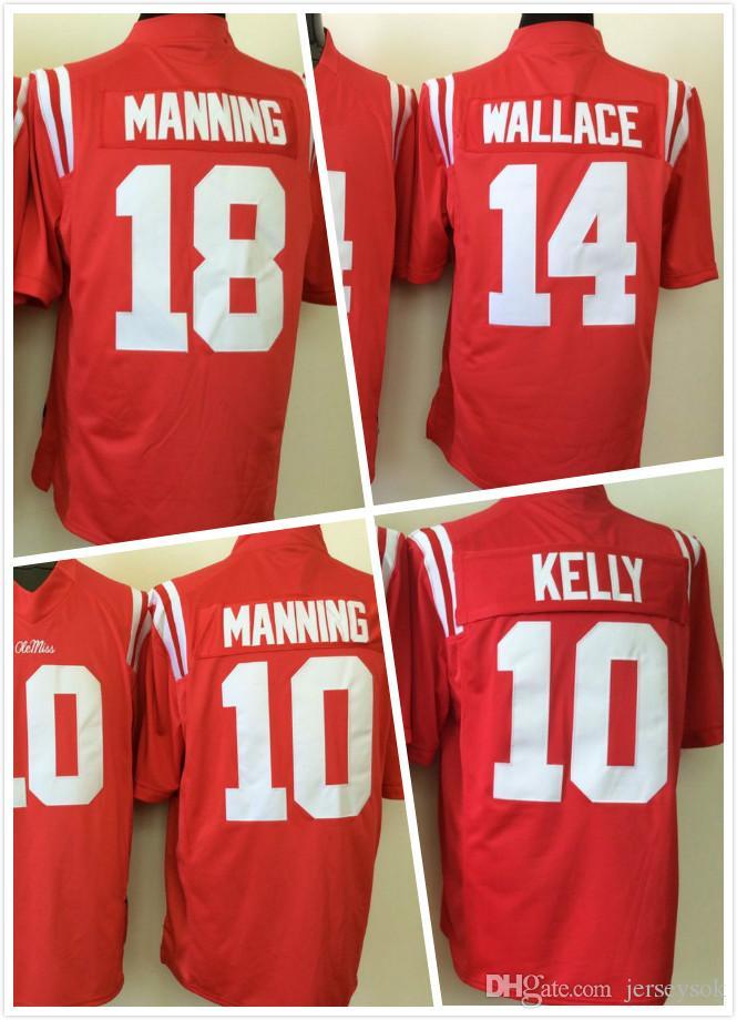 buy popular 821f8 c9e76 Ole Miss Rebels jerseys 10 Chad Kelly 18 Manning jerseys 14 Bo Wallace  College jersey