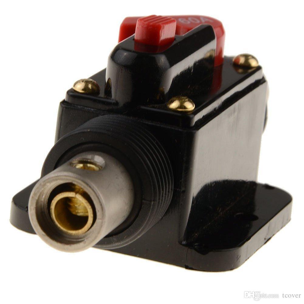 ZOOKOTO 60A Fusibles Inline Circuit Breaker Réinitialisation Fusible Onduleur pour Voiture Système Audio Protection 12V-24V DC