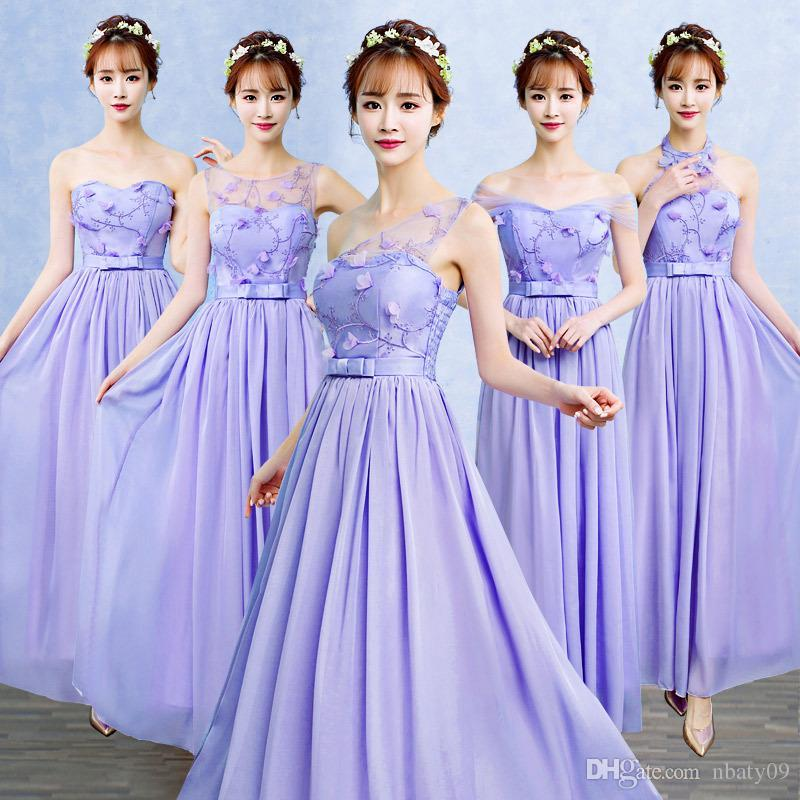 Purple Color 5 Patterns Size Us6 Women Wedding Clothing Wrap Chest ...
