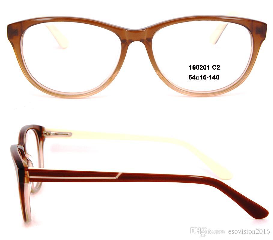 Modemarke Brillengestell Männer und Frauen Eyewear Optische Brillengestell Brillenglas MYOPIA Brillen zum Verkauf in hoher Qualität Oval 160201