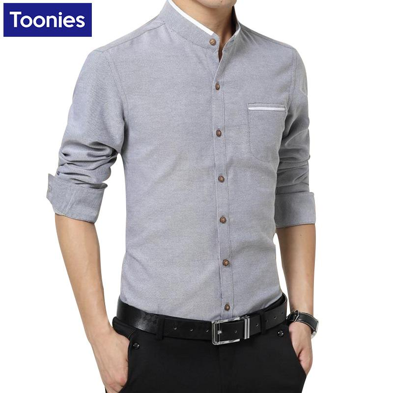 f6ff3a8caca4 2019 Wholesale New Brand Clothing Mens Dress Shirts SIngle Breasted Chemise  Homme Long Sleeve Slim Fit Shirt Men Casual Work Office Shirt Male From  Primali, ...