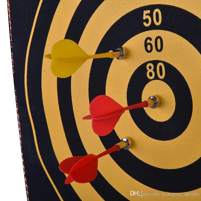 Magnetische Dartscheibe Sicherheits Dartscheibe mit 4 Darts für Kinder geschenk / Kinderspielzeug Fun Spiel Indoor-Freizeit-Spielzeug