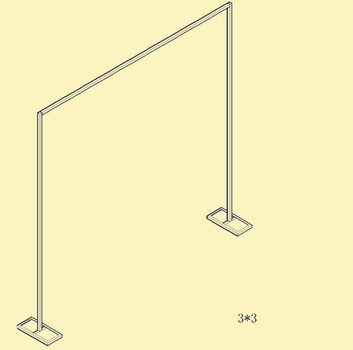 Stainless steel retractable background bracket of the wedding background the curtain of the curtain frame WQ09
