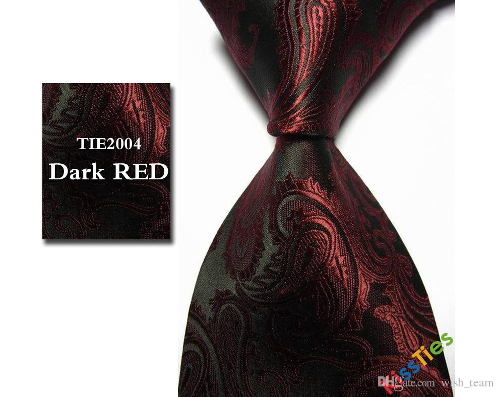 Lazos de los hombres de moda para trajes Vintage Paisley Corbatas de poliéster a cuadros corbata Floral Gravata para los hombres de los puntos de la boda Corbatas para hombres