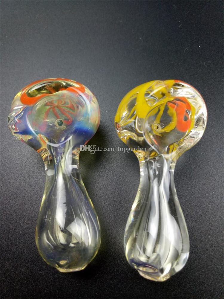 Nueva Llegada Tubo Quemador de Aceite de Vidrio 6 cm mini Fumar Tubos de Mano Tubo de Vidrio Grueso Aceite Tubos de Colores Envío Gratis