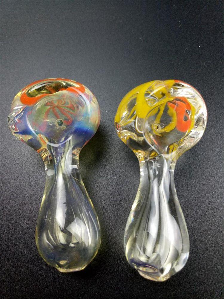 Yeni Varış Cam Yağı Brülör Boru 6 cm mini Sigara El Boruları Kalın Cam Boru Yağ Renkli Borular Ücretsiz Kargo