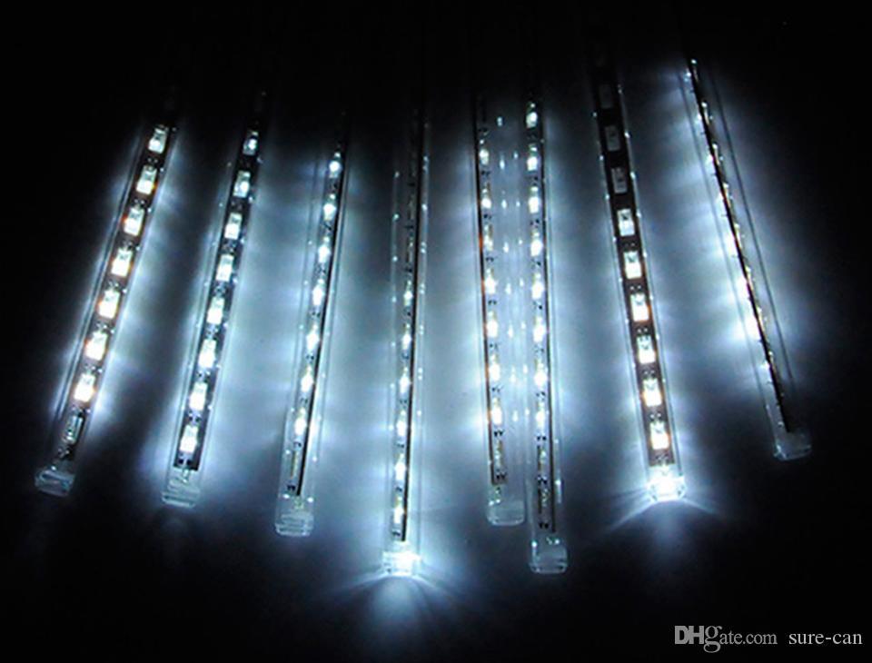 30cm 50cm étanche Tubes de pluie de pluie de météores romantiques LED Light pour la décoration de mariage de fête de Noël vacances LED Meteor Light
