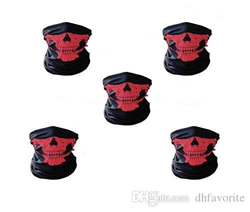 Moto Cyclisme Écharpe Demi Masque Coupe-Vent Tribal Classique Crâne Doux Polyester Facemask Chapeaux Réchauffeur Cap Cou Fantôme Multi Fonction