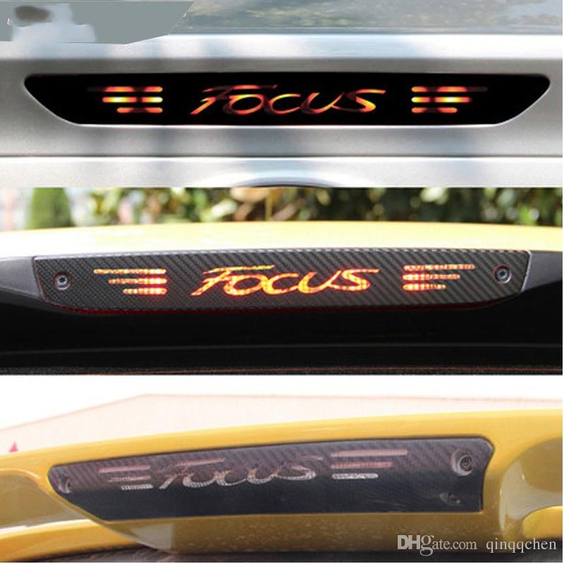 Carbon Fiber Stickers And Decals High Mounted Stop Brake Lamp Light Car Styling For Ford Focus 2 3 MK2 MK3 2005-2017 Accessories