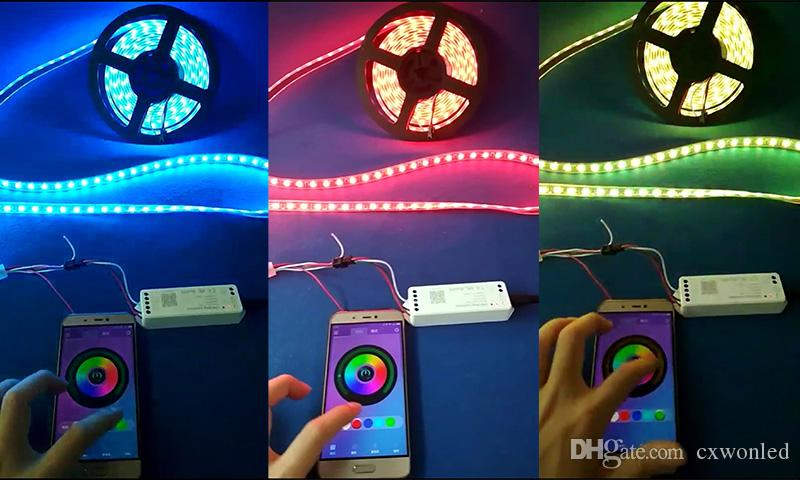 LED Music Bluetooth Controller DC12-24V Max 288W RGBW LED Controller for Full colour LED Strip Wireless iOS Android APP Control