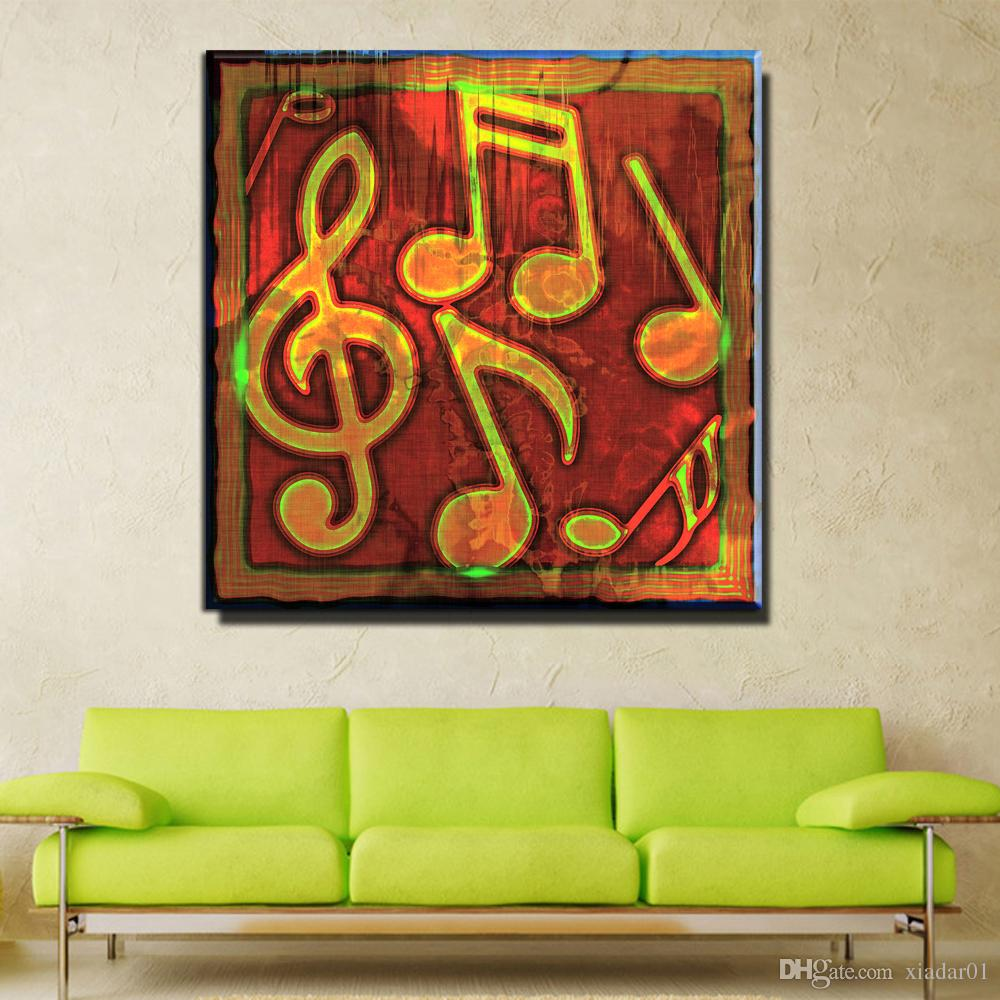 ZZ1017 modern abstract canvas art music note canvas prints art oil painting for livingroom bedroom decoration unframed