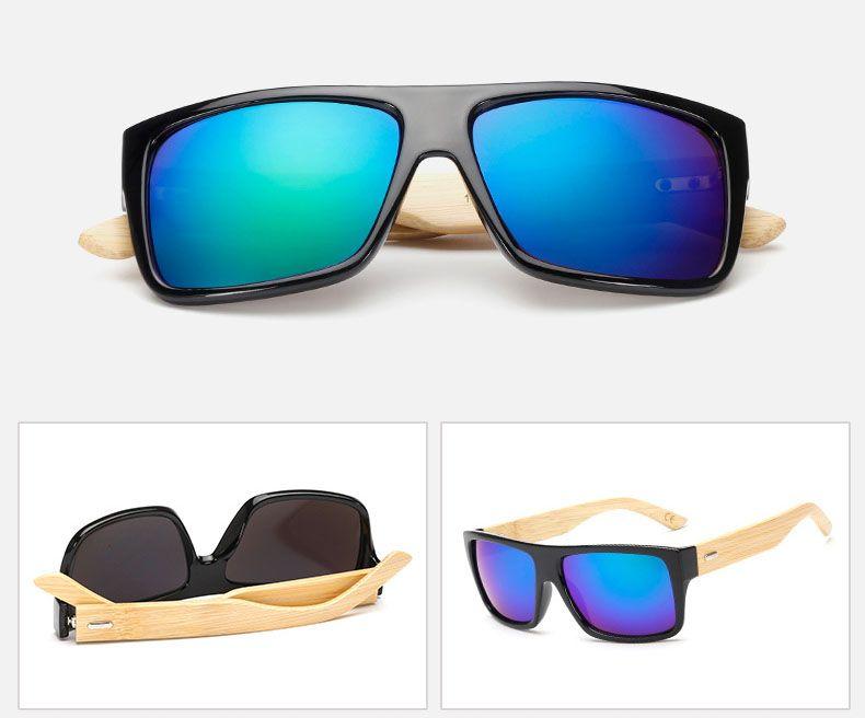 fashion men sunglasses bamboo wood frame sunglasses designer natural vintage women radiation protection multicolor sun glasses high quality wood sunglasses - Wooden Frame Sunglasses
