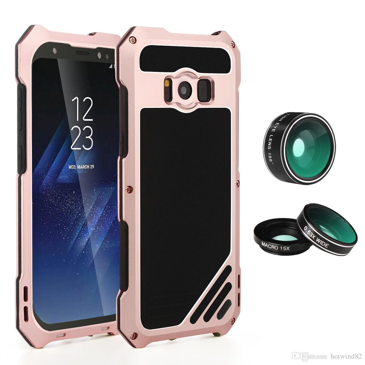 buy online cdea2 53562 For Samsung Galaxy S8 Plus Lens Kit Case with IP54 Dustproof Shockproof  Rose Gold Aluminum Case for Galaxy S8 Plus (6.2