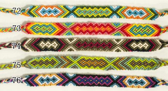 Dokuma Halat Bilezik Boho Yaz Bilezikler Vintage Stil colorfu 1.5cm Genişlik Pamuklu Örme Unisex Dostluk Bilezik Takı