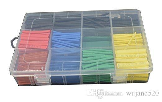 를 2 : 1 열 수축 관 튜브 슬 리빙 랩 케이블 전선 5 색 8 사이즈 1.5mm의 / 2mm / 3mm / 4mm / 5mm / 6mm / 8mm / 10mm