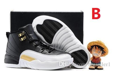 cheap Kids hot new 12 shoes Children Basketball Shoes for Boys Girls 12s Black Sports Shoe Toddlers Athletic Shoes Birthday Gift