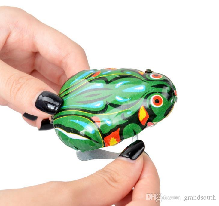 With Retail Box Wind-up Frog Animal Jumping Toys Kids Classic Tin Wind Up Clockwork Toys Funny Children Toy