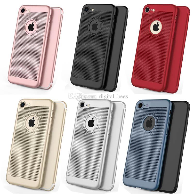 Pour Iphone X Xr Xs Max Cas Respirant Dissipation De La Chaleur Mince Protecteur de Téléphone PC Coloré Gommage Lisse Toucher Couverture de Téléphone Pour Samsung S8