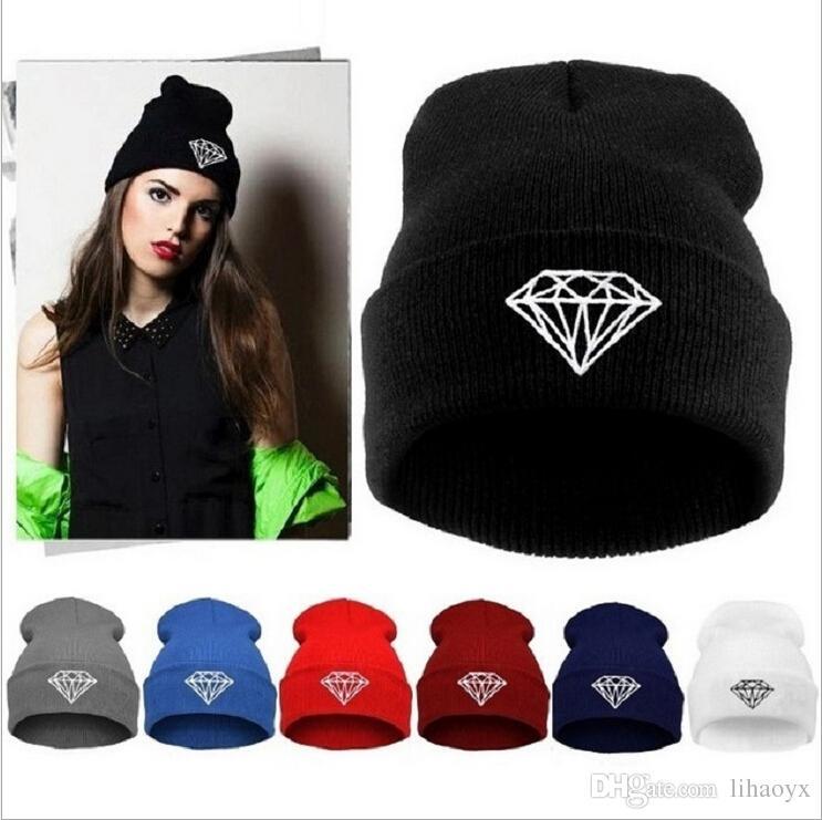 3bb8319ea2 Hot Sale Winter Hat Cap Beanie Wool Knitted Men Women Caps Hats Diamond  Embroidery Skullies Warm Beanies Unisex MO46 Hoodies Beanies From Lihaoyx,  ...