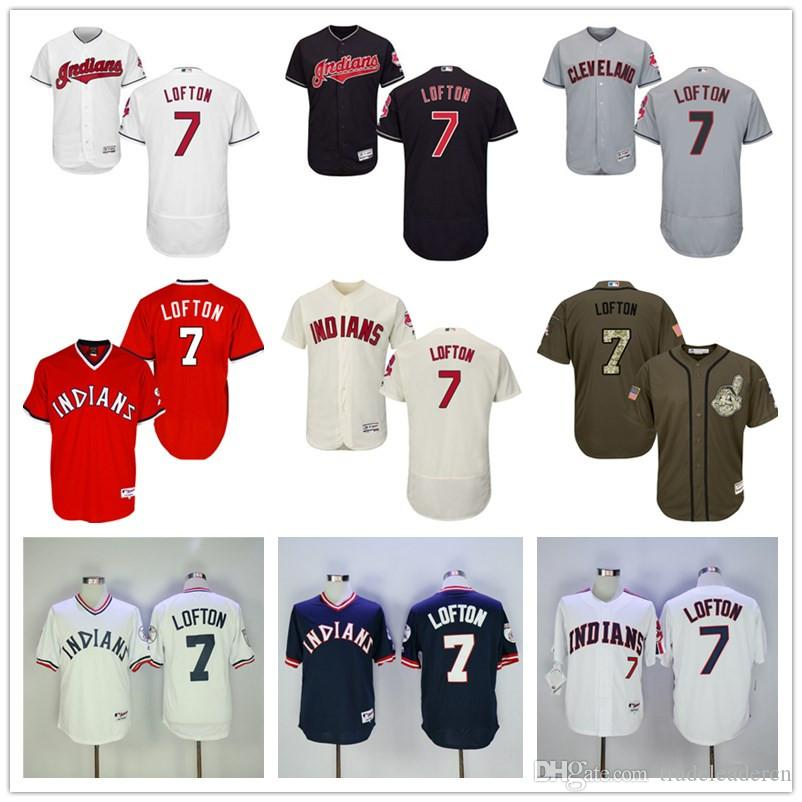 88c34d5bc ... 2017 New Cleveland Indians 7 Kenny Lofton 1976 Navy Blue Red Pull Down  White Gray Mlb ...