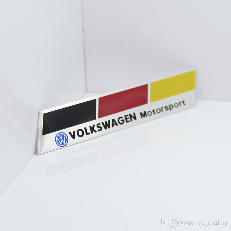 Germany National flag Racing Car Sticker Fit For Volkswagen Vw Plol Golf 6 Metal R Badge Motorsport Car Thin metal aluminum Emblem