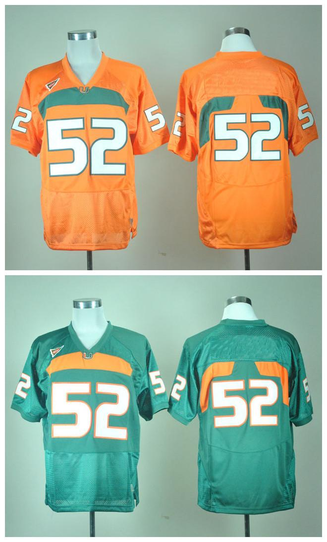 new style 8bc25 43097 Cheap Top Quality 2016 New Cheap Ray Lewis Miami Hurricanes 52 Ray Lewis  Jerseys Green White Orange College football Jerseys Mix Order