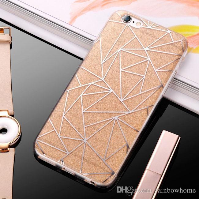 Custodia morbida in silicone di lusso con glitter arenaria glitter iPhone XR XS Max X 8 7 6 6S Plus Cover trasparente in TPU trasparente