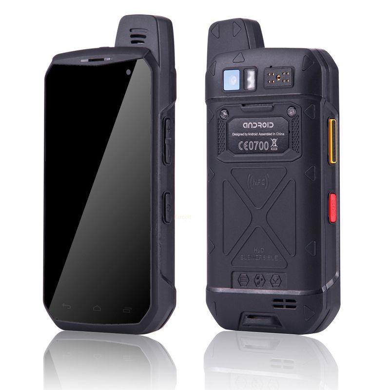 4G LTE Walkie Talkie telefono UNIWA B6000 Octa core 4GB di RAM 64GB ROM 5000mAh NFC doppia fotocamera Android 6.0 IP68 impermeabile Smartphone vendita calda